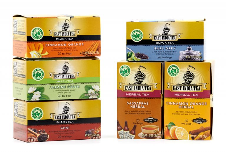 food packaging design services east india tea boxes