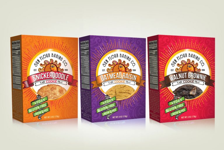 food packaging design services sun flour