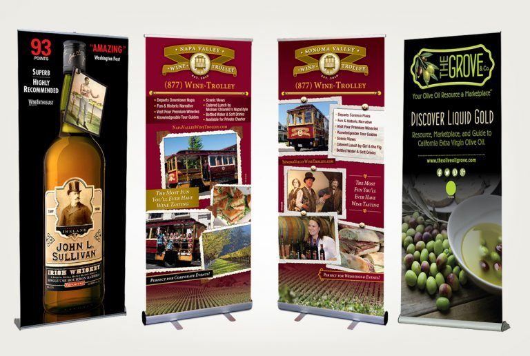 packaging branding design services bannerstands