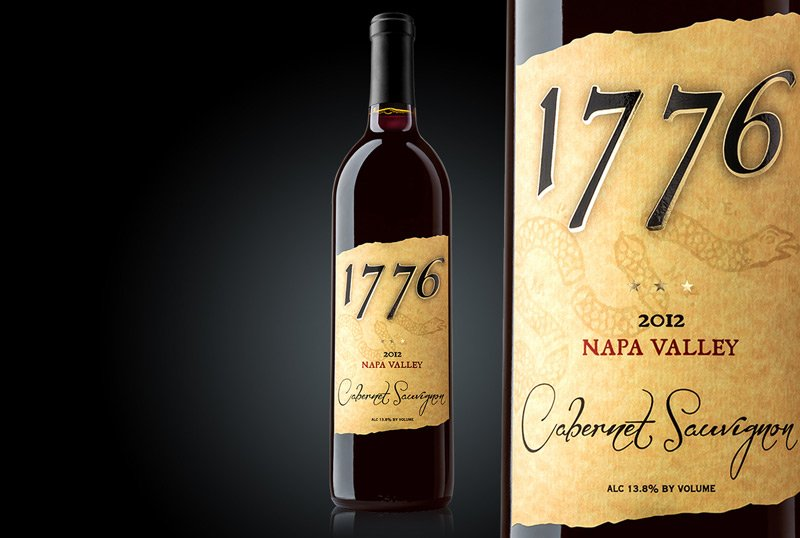 packaging design 1776 wine body