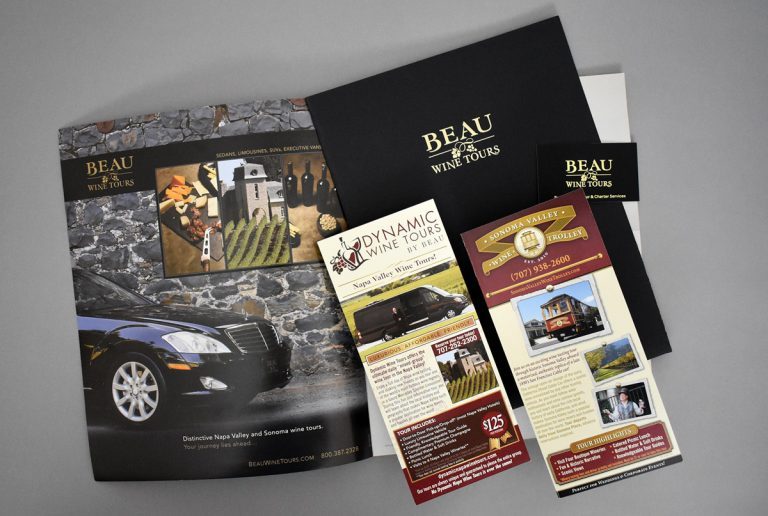 print design services beau wine tours