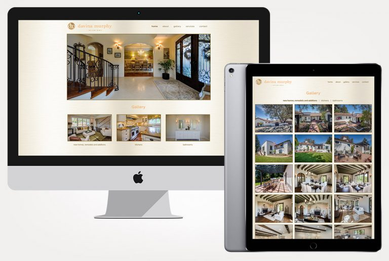web design services davina murphy interiors