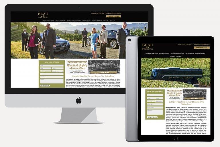 web design services beau wine tours