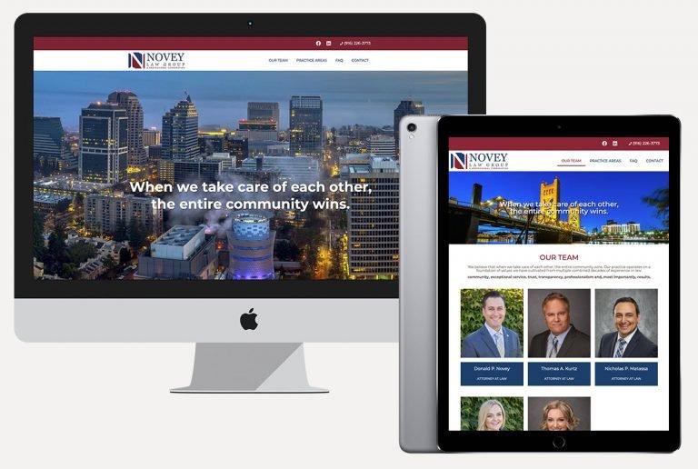 web design services novey law group